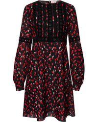 Giamba Heart Print Dress red - Lyst