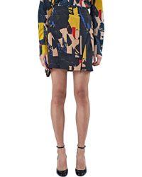 Capara - Women's Inkjet Printed Silk Mini Skirt 33 In Black - Lyst