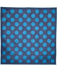 Paul Smith Silk Polka Dot Pocket Square - Lyst