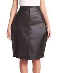 Junya Watanabe Faux-Leather Skirt black - Lyst
