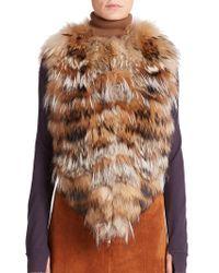 Sonia Rykiel   Patchwork Fur Vest   Lyst