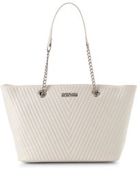 Kenneth Cole Reaction Ivory Chevy Chain Tote - Lyst