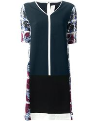 Peter Pilotto Blue Shift Dress - Lyst