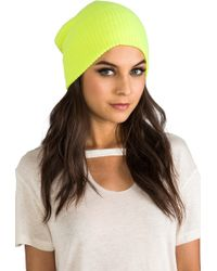 Autumn Cashmere - Ribbed Bag Hat in Yellow - Lyst