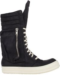 Rick Owens Cargobasket Sneaker Boots - Lyst