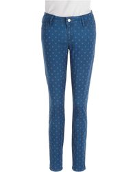 Guess Brittney Polka Dot Skinny Ankle Jeans - Lyst