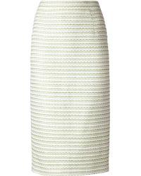 Thom Browne Tweed Midi Skirt - Lyst