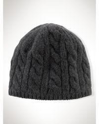 Ralph Lauren Cotton Cable-Knit Skull Cap - Lyst
