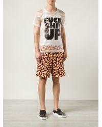 Jeremy Scott Fuzzy Print Shorts - Lyst