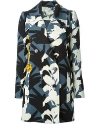 Carven Silhouette Print Overcoat - Lyst