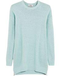 Acne Studios Sade Oversized Chunkyknit Cotton Sweater - Lyst