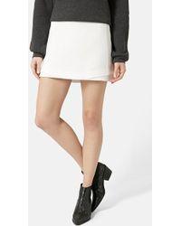 Topshop Basket Weave Underlay Miniskirt - Lyst