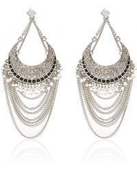 River Island Silver Tone Draped Dangle Chain Earrings silver - Lyst