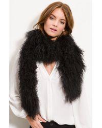 Toria Rose - Genuine Lamb's Fur Boa - Lyst