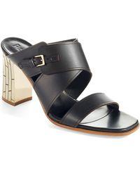 Pollini Leather Strap Sandals - Lyst