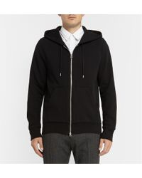 Acne Studios Justin Zippedside Cottonjersey Hoodie - Lyst