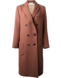 Forte Forte Classic Double Breasted Coat - Lyst