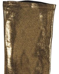 Yohji Yamamoto - Gold Printed Long Cotton Gloves - Lyst