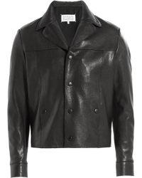 Maison Margiela Leather Jacket - Lyst