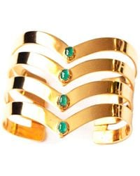 Isabel Englebert - Gladiator Pure Cuff Emeralds And Gold - Lyst