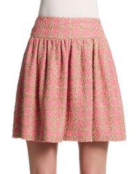 RED Valentino Tweed Mini Skirt - Lyst