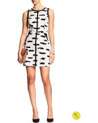 Banana Republic Factory Sleeveless Cut-Out Dress - Lyst