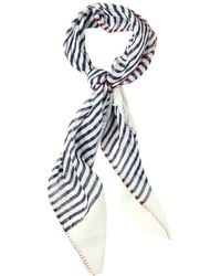 Richard James - Striped Linen Scarf - Lyst