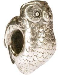 Trollbeads - Sterling Silver Owl Charm - Lyst
