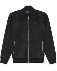 Blood Brother Black Embossed Bomber Jacket black - Lyst