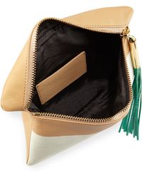 Elizabeth and James - Scott Bicolor Leather Clutch Bag - Lyst