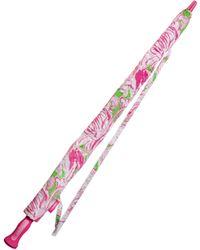 Lilly Pulitzer - Pink Colony Golf Umbrella - Lyst