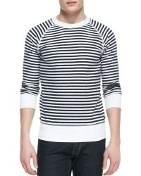 Billy Reid Crewneck Longsleeve Striped Shirt - Lyst