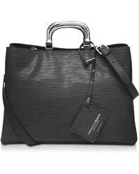 Francesco Biasia - Barbican Embossed Leather Handbag - Lyst