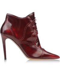 Tabitha Simmons Red Ankle Boots - Lyst