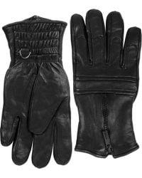Calvin Klein   Chunky Leather Ski Gloves   Lyst