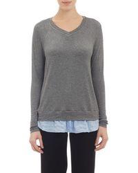 Barneys New York Shirttail Hem T-Shirt - Lyst