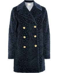 Band of Outsiders - Leopard-Devoré Faux Fur Coat - Lyst