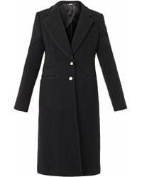 Alexander McQueen Single-Breasted Wool-Blend Coat black - Lyst