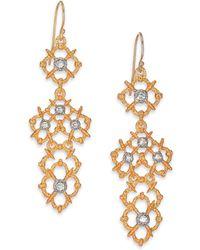Alexis Bittar Elements Moonlight Crystal Spur Lace Drop Earrings - Lyst