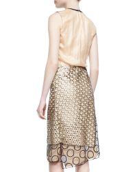 Reed Krakoff Leathertrim Multidot Dress - Lyst
