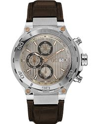 Gc - X56005g1s Bold Stainless Steel And Leather Watch - Lyst