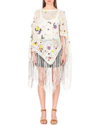 Emilio Pucci - Embellished Knitted Cape - Lyst
