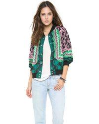 Emma Cook - Lace Print Bomber Jacket - Lyst