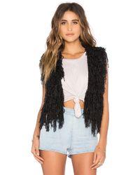 Indah - Cheri Wook-Blend Shaggy Vest - Lyst
