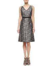 Michael Kors Sleeveless Paisley-Print Dress - Lyst