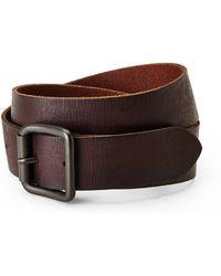 Marc New York Dark Brown High Roller Leather Belt - Lyst