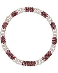 Sanjay Kasliwal | Diamond Ruby Cluster Necklace | Lyst