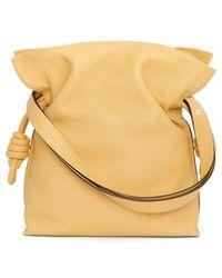 Loewe Women'S 'Flamenco Knot' Calfskin Leather Bag - Yellow - Lyst
