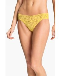 Hanky Panky Regular Rise Lace Thong - Lyst