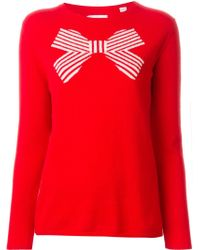 Chinti & Parker | Striped Bow Intarsia Sweater | Lyst